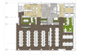 open plan office plan - standard charted bank - lagos, nigeria
